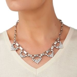 Stella & dot silver with crystal necklace